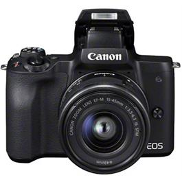 Canon EOS M50 Mirrorless Camera With EF-M 15-45mm IS STM Lens - Black Thumbnail Image 1